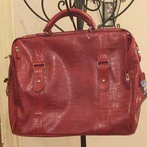 Red Bath and Bodyworks Weekender Bag